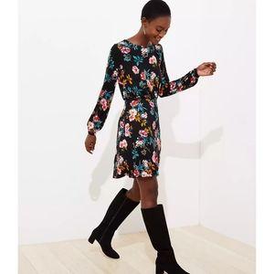 Loft Floral Back Flare Dress Size 10